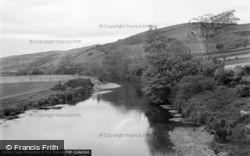 Aberystwyth, The River From Pen-Y-Bont Bridge 1949