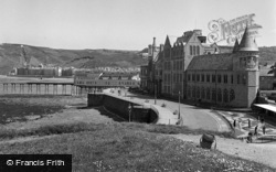 Aberystwyth, University College Of Wales And Promenade 1949