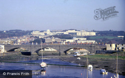 University Penglais Campus From The Harbour 1985, Aberystwyth