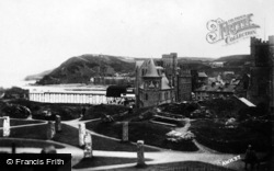 Aberystwyth, View From Castle Hill Showing College c.1930