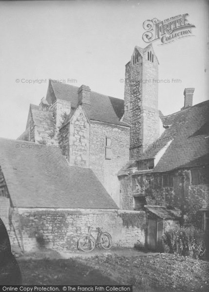 Photo of Abingdon, Abbey, The Checker Building Chimney 1924