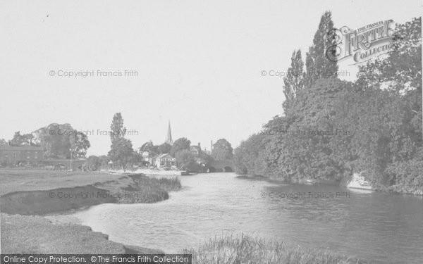 Photo of Abingdon, Above Bridge 1924