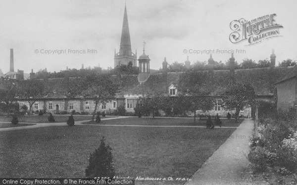Photo of Abingdon, Almshouses And Church 1900