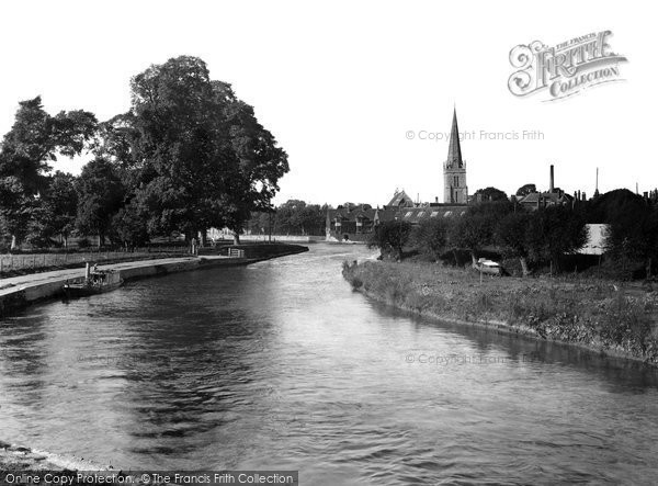 Photo of Abingdon, Below Bridge 1924
