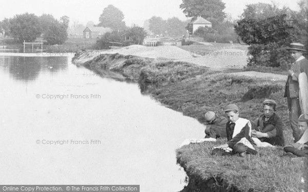 Photo of Abingdon, Boys By The River 1890