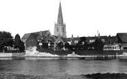 Abingdon, From Below Bridge 1924