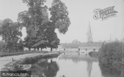 Abingdon, From Below The Bridge 1890