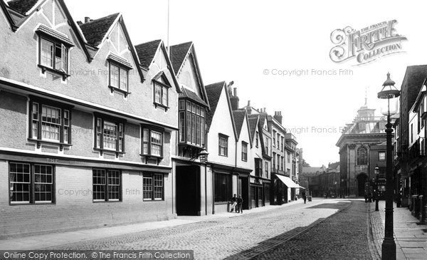 Photo of Abingdon, High Street And Lion Hotel 1893