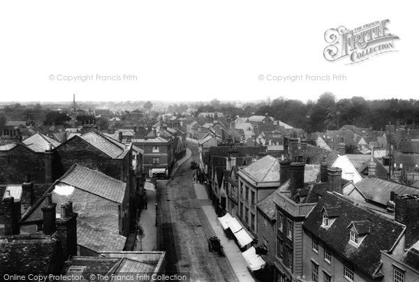 Photo of Abingdon, High Street From Town Hall Roof 1900
