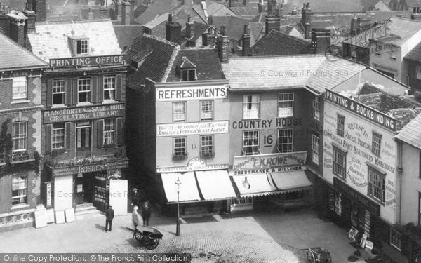 Photo of Abingdon, Market Place From Town Hall Roof 1900