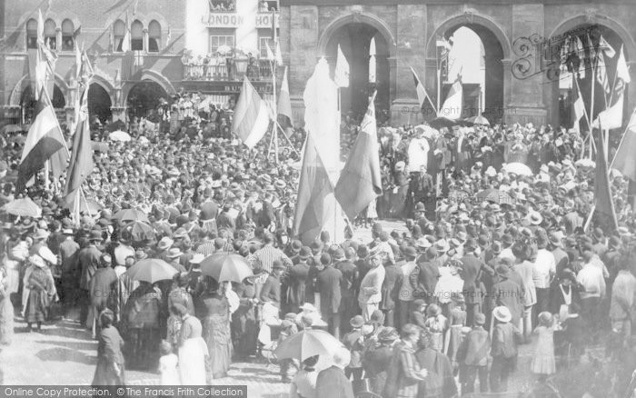 Photo of Abingdon, Market Place, Unveiling Queen Victoria's Statue 1887