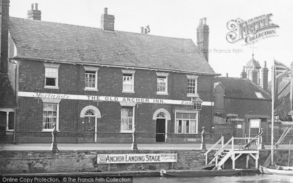 Photo of Abingdon, Old Anchor Inn 1924