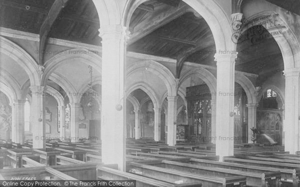 Photo of Abingdon, Parish Church Across Nave 1893