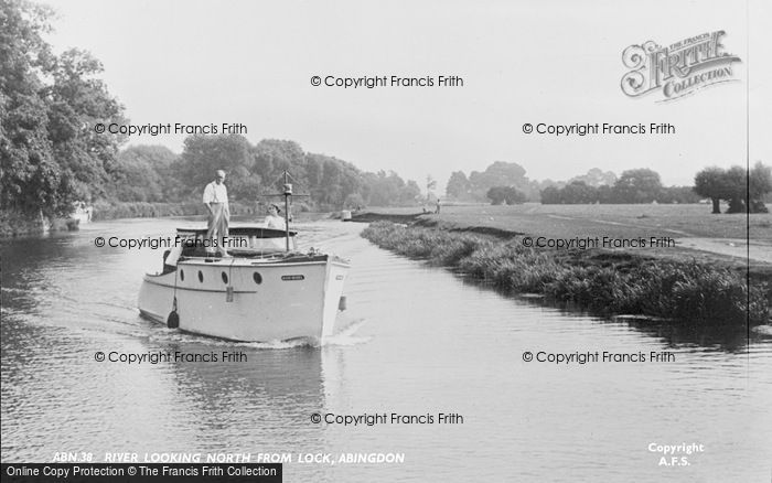 Photo of Abingdon, River Thames Looking North From The Lock c.1950