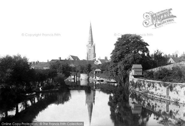 Photo of Abingdon, St Helen's Church 1890