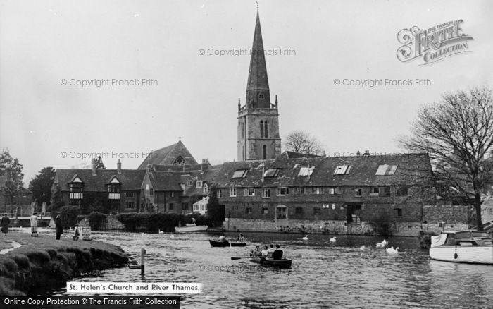 Photo of Abingdon, St Helen's Church And River Thames c.1960