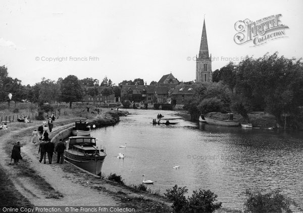 Photo of Abingdon, St Helen's Church And The River Thames c.1950