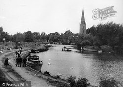 Abingdon, St Helen's Church And The River Thames c.1950