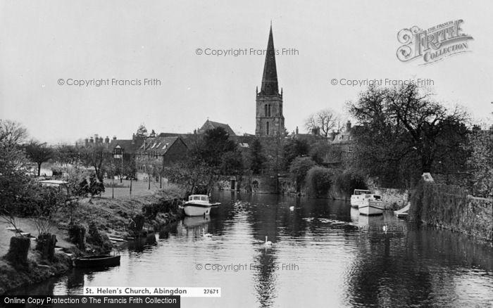 Photo of Abingdon, St Helen's Church c.1960