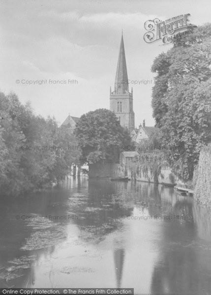 Photo of Abingdon, St Helen's Church From Bridge 1925