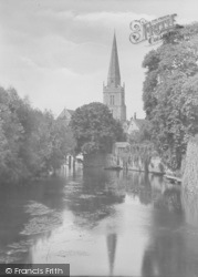 Abingdon, St Helen's Church From Bridge 1925