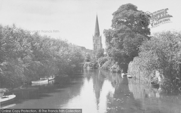 Photo of Abingdon, St Helen's Church From The Bridge c.1955