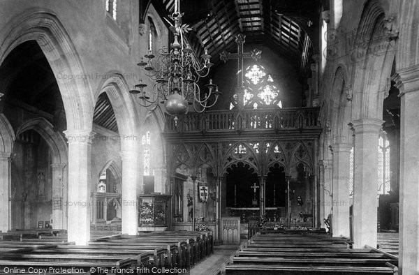 Photo of Abingdon, St Helen's Church Interior 1893