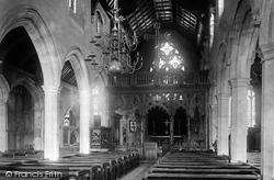 Abingdon, St Helen's Church Interior 1893