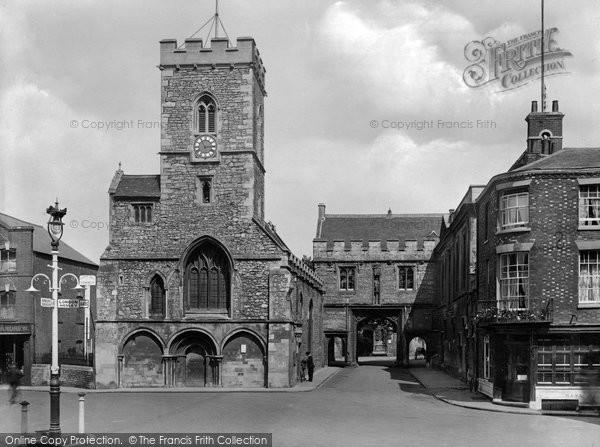 Photo of Abingdon, St Nicholas' Church And Abbey Gateway 1925