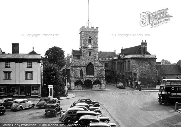 Photo of Abingdon, St Nicholas' Church And Guildhall c.1955