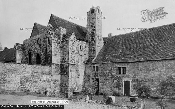 Photo of Abingdon, The Abbey c.1960