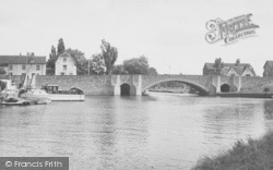 Abingdon, The Bridge And River c.1955