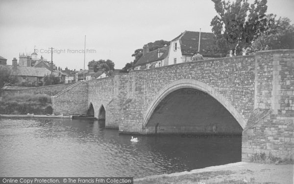 Photo of Abingdon, The Bridge c.1950