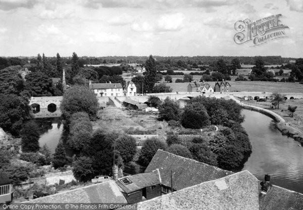 Photo of Abingdon, The Bridges From The Church Tower c.1945