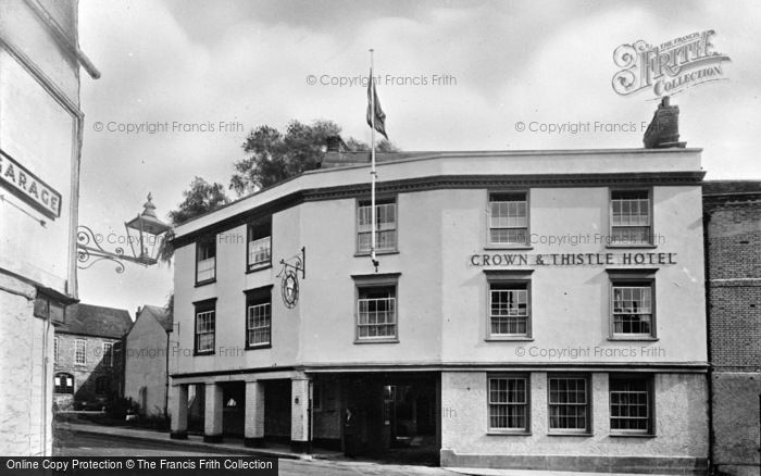 Photo of Abingdon, The Crown And Thistle Hotel c.1955