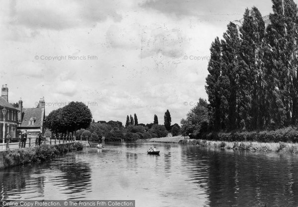 Photo of Abingdon, The Poplars And River Thames c.1947
