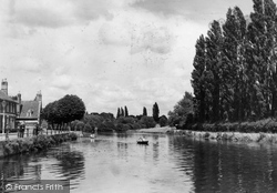 Abingdon, The Poplars And River Thames c.1947