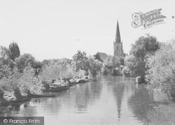 Abingdon, The River Thames c.1965