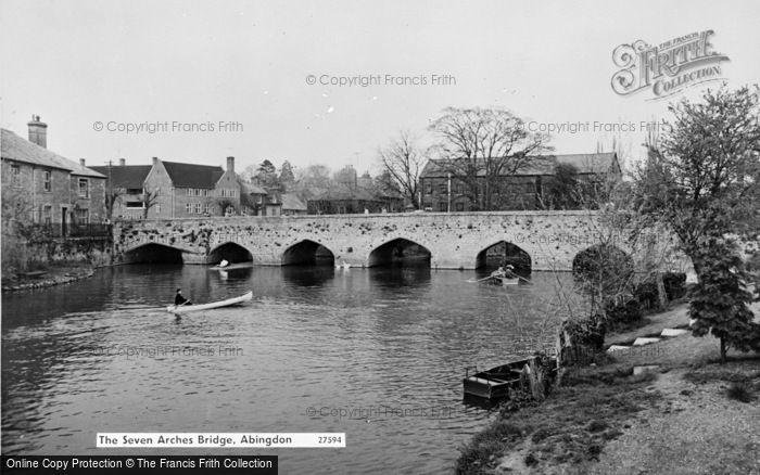 Photo of Abingdon, The Seven Arches Bridge c.1960