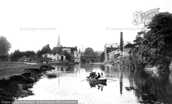 Photo of Abingdon, the Town from the River Thames 1890