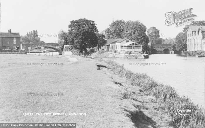 Photo of Abingdon, The Two Bridges c.1955