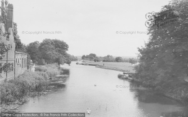 Photo of Abingdon, View From The Bridge c.1955