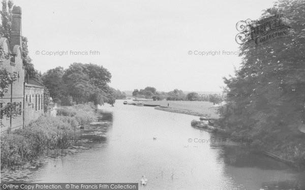 Photo of Abingdon, View From The Bridge c.1955