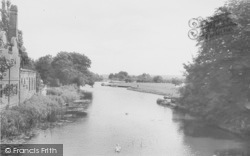 Abingdon, View From The Bridge c.1955