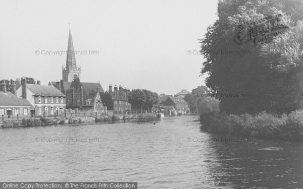 Photo of Abingdon, View From The River c.1950