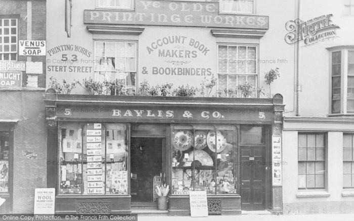 Photo of Abingdon, Ye Olde Printinge Workes, Market Place 1901