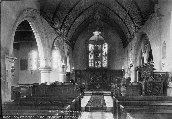 Photo of Abinger Common, Church Interior 1902