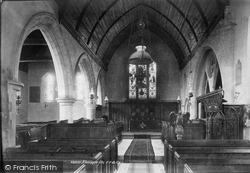 Abinger Common, Church Interior 1902