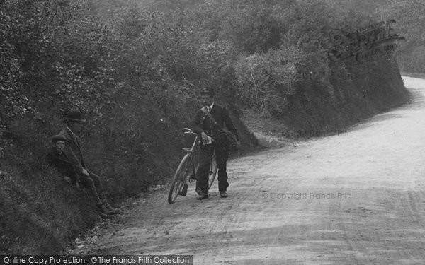 Photo of Abinger Common, Postman And His Bike 1906