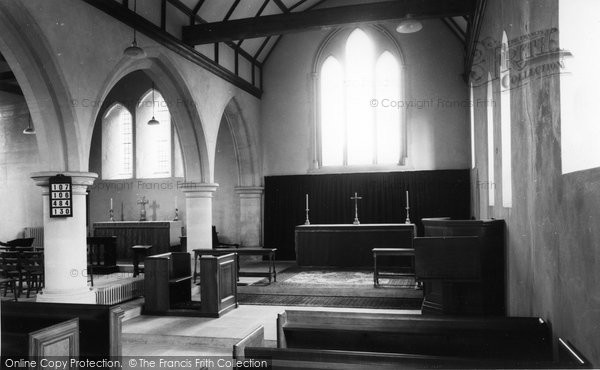 Photo of Abinger Common, The Church Interior c.1965